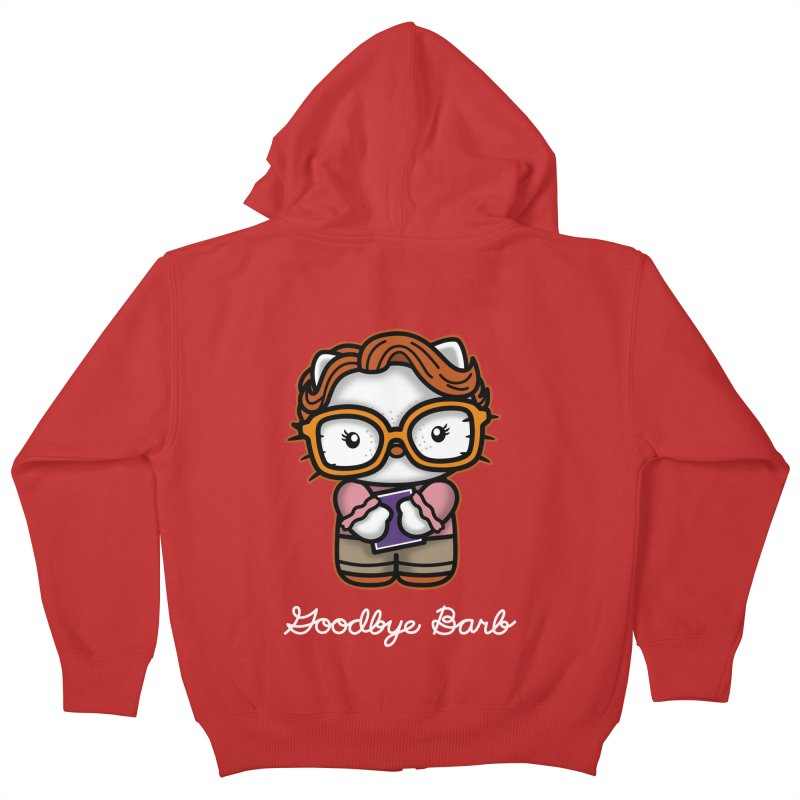 Goodbye Barb Kids Zip-Up Hoody by boggsnicolas's Artist Shop