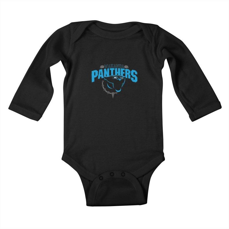 Wakanda Panthers Kids Baby Longsleeve Bodysuit by boggsnicolas's Artist Shop