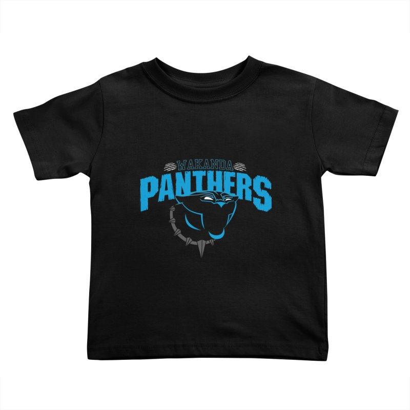 Wakanda Panthers Kids Toddler T-Shirt by boggsnicolas's Artist Shop
