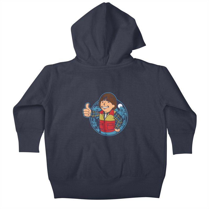 Boy from Hawkins Kids Baby Zip-Up Hoody by boggsnicolas's Artist Shop