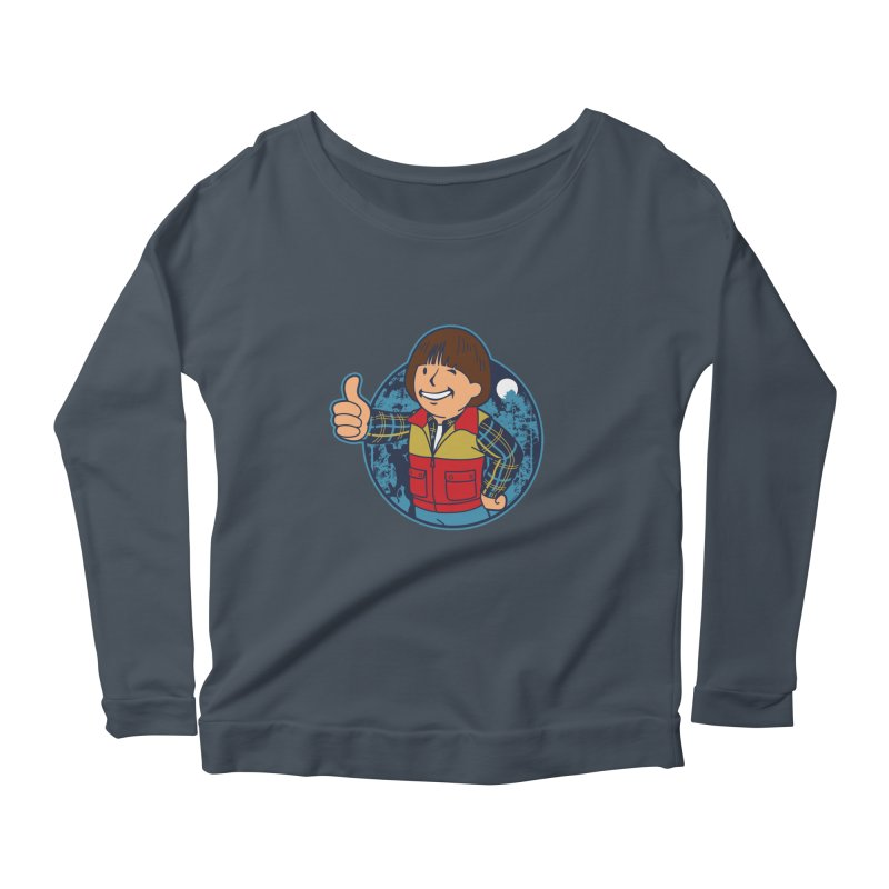 Boy from Hawkins Women's Longsleeve Scoopneck  by boggsnicolas's Artist Shop