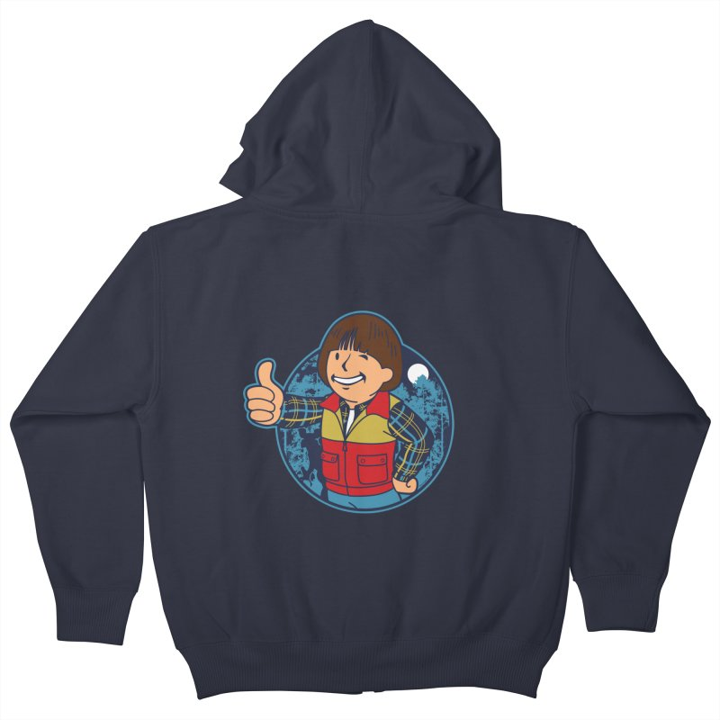 Boy from Hawkins Kids Zip-Up Hoody by boggsnicolas's Artist Shop