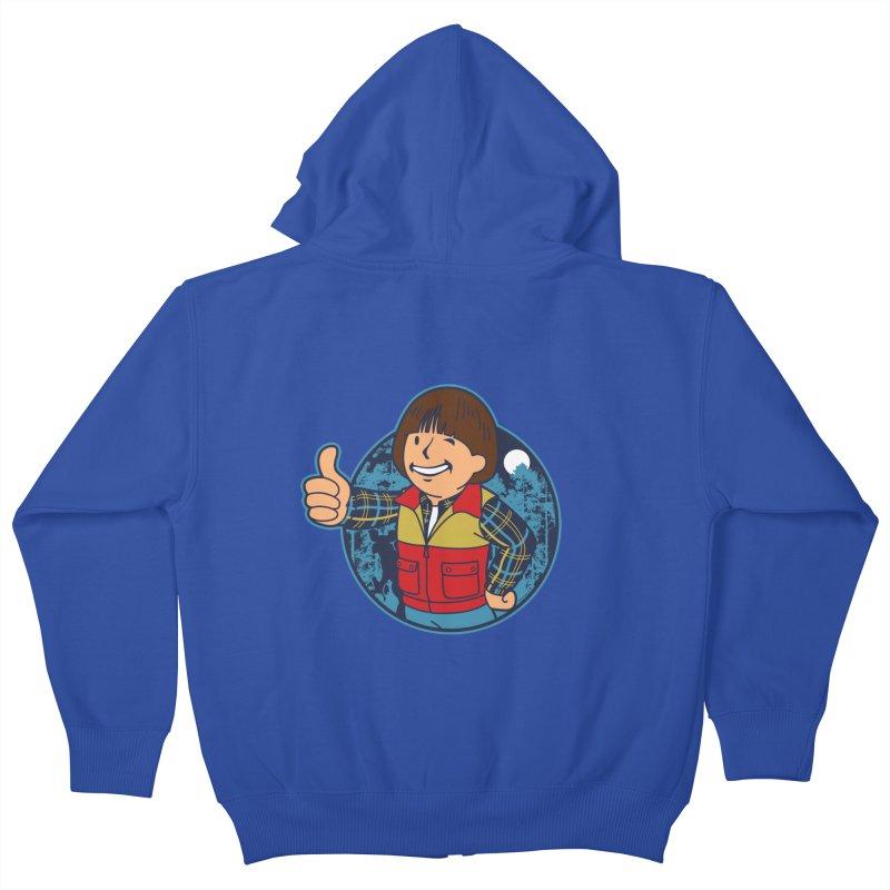Boy from Hawkins Kids Zip-Up Hoody by boggsnicolas's Artist Shop