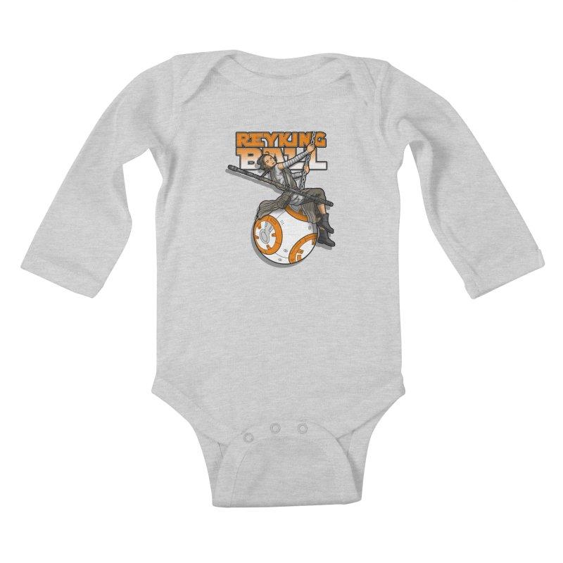 Reyking ball Kids Baby Longsleeve Bodysuit by boggsnicolas's Artist Shop