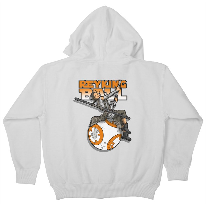 Reyking ball Kids Zip-Up Hoody by boggsnicolas's Artist Shop