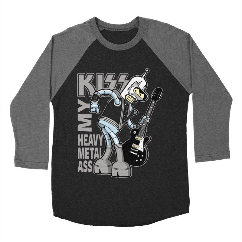 Heavy Metal Ass Men's Baseball Triblend T-Shirt by boggsnicolas's Artist Shop