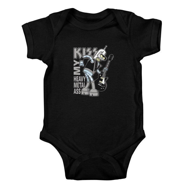 Heavy Metal Ass Kids Baby Bodysuit by boggsnicolas's Artist Shop