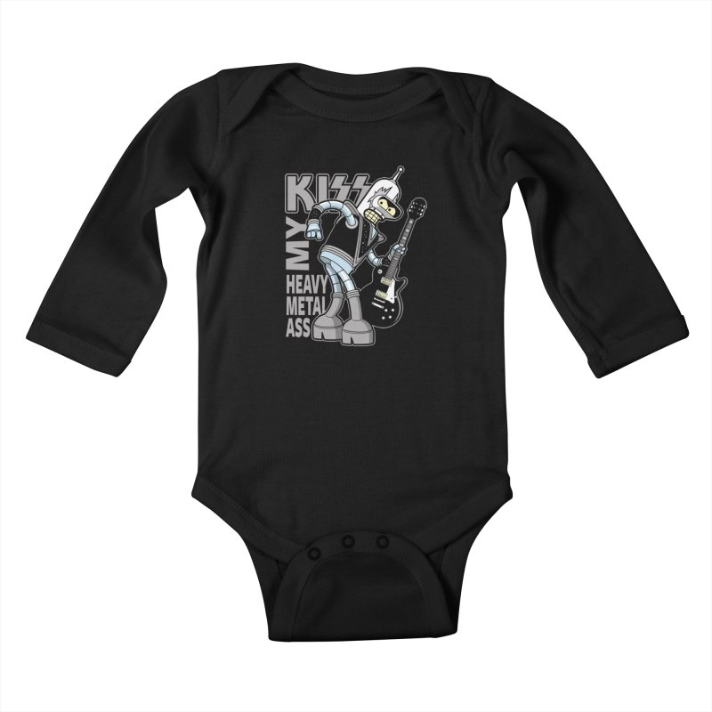 Heavy Metal Ass Kids Baby Longsleeve Bodysuit by boggsnicolas's Artist Shop