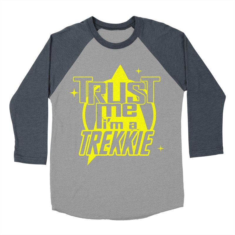 Trust me, I'm a Trekkie Men's Baseball Triblend T-Shirt by boggsnicolas's Artist Shop
