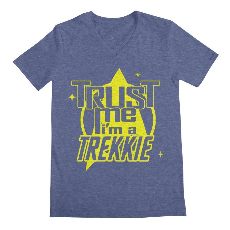 Trust me, I'm a Trekkie Men's V-Neck by boggsnicolas's Artist Shop