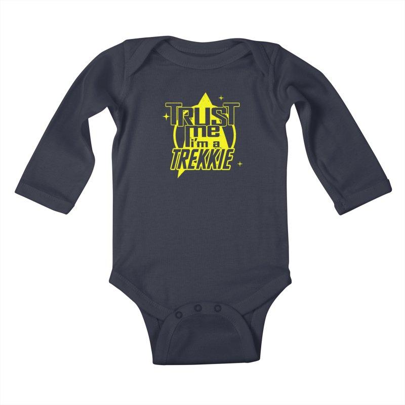 Trust me, I'm a Trekkie Kids Baby Longsleeve Bodysuit by boggsnicolas's Artist Shop