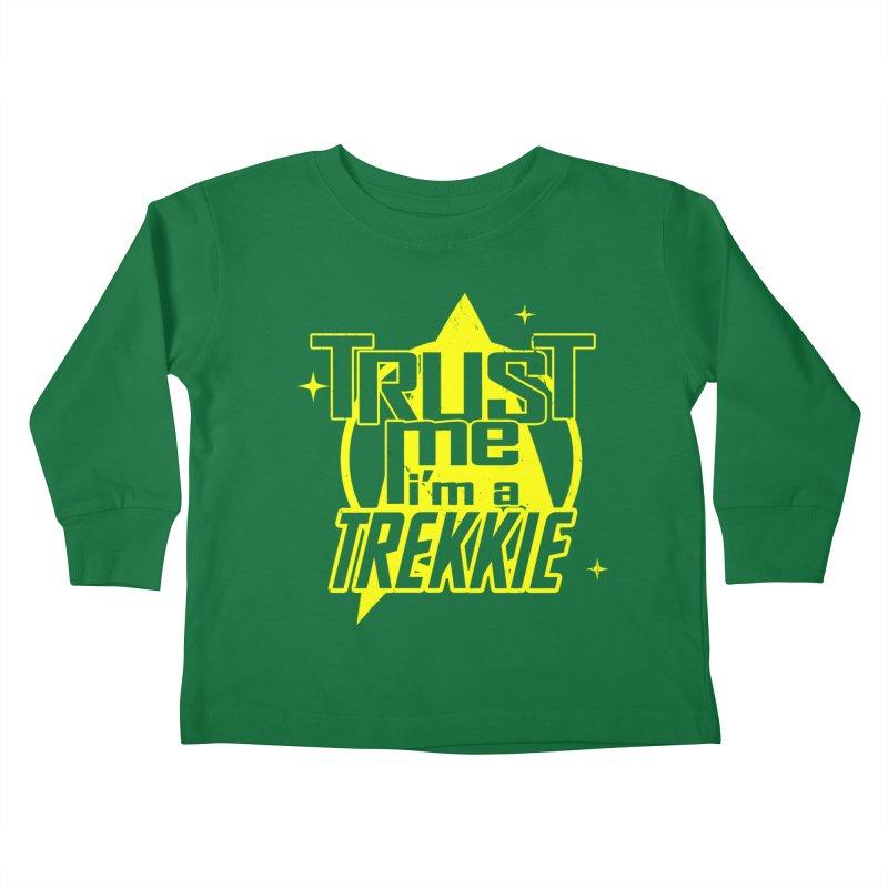 Trust me, I'm a Trekkie Kids Toddler Longsleeve T-Shirt by boggsnicolas's Artist Shop