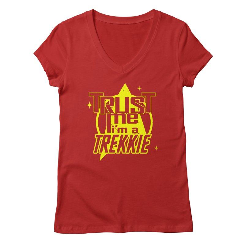Trust me, I'm a Trekkie Women's V-Neck by boggsnicolas's Artist Shop