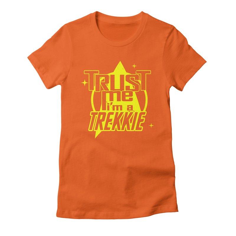 Trust me, I'm a Trekkie Women's Fitted T-Shirt by boggsnicolas's Artist Shop