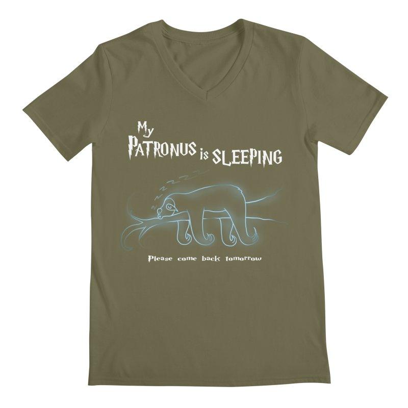 My Patronus is sleeping Men's V-Neck by boggsnicolas's Artist Shop