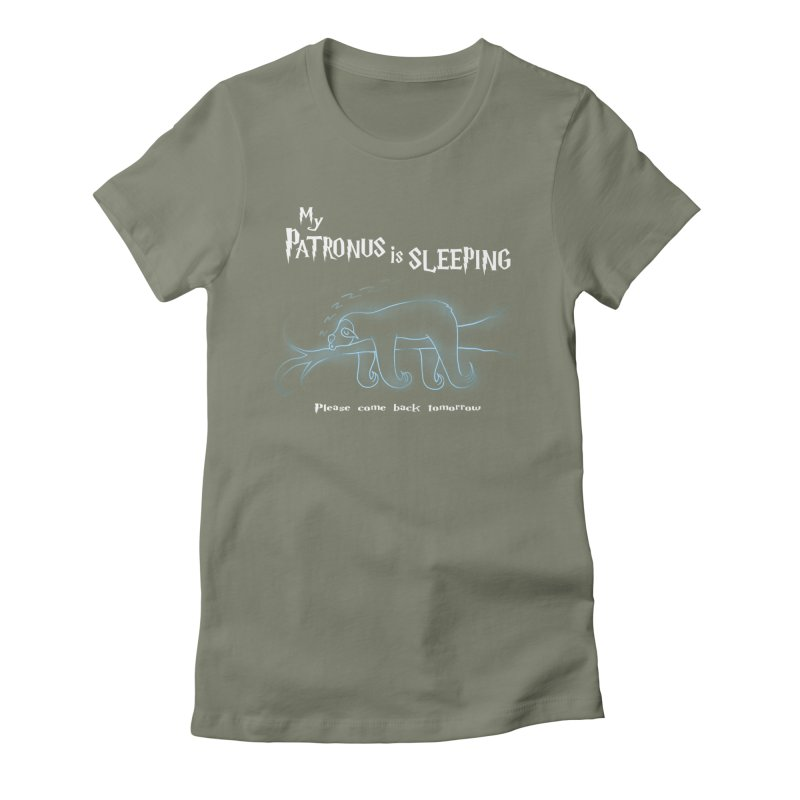 My Patronus is sleeping Women's Fitted T-Shirt by boggsnicolas's Artist Shop