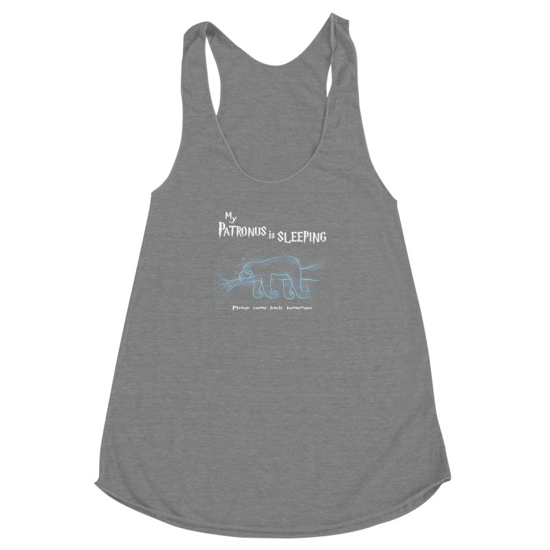 My Patronus is sleeping Women's Racerback Triblend Tank by boggsnicolas's Artist Shop