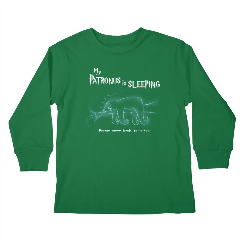 My Patronus is sleeping Kids Longsleeve T-Shirt by boggsnicolas's Artist Shop