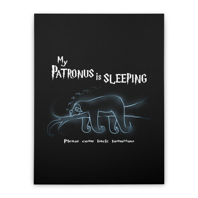 My Patronus is sleeping Home Stretched Canvas by boggsnicolas's Artist Shop