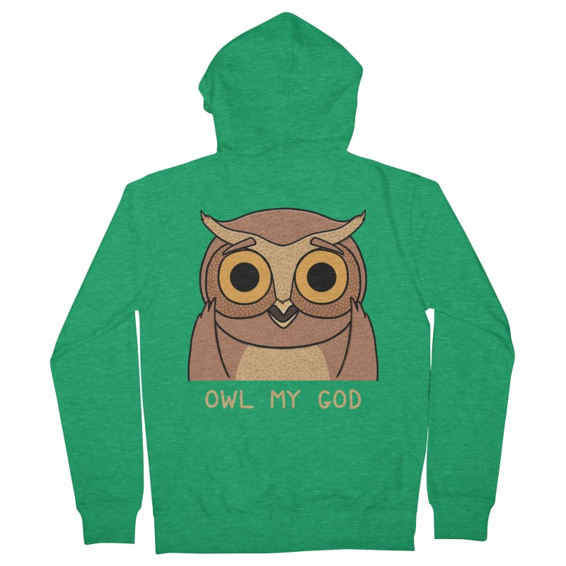 Owl My God Men's Zip-Up Hoody by bohsky's Artist Shop