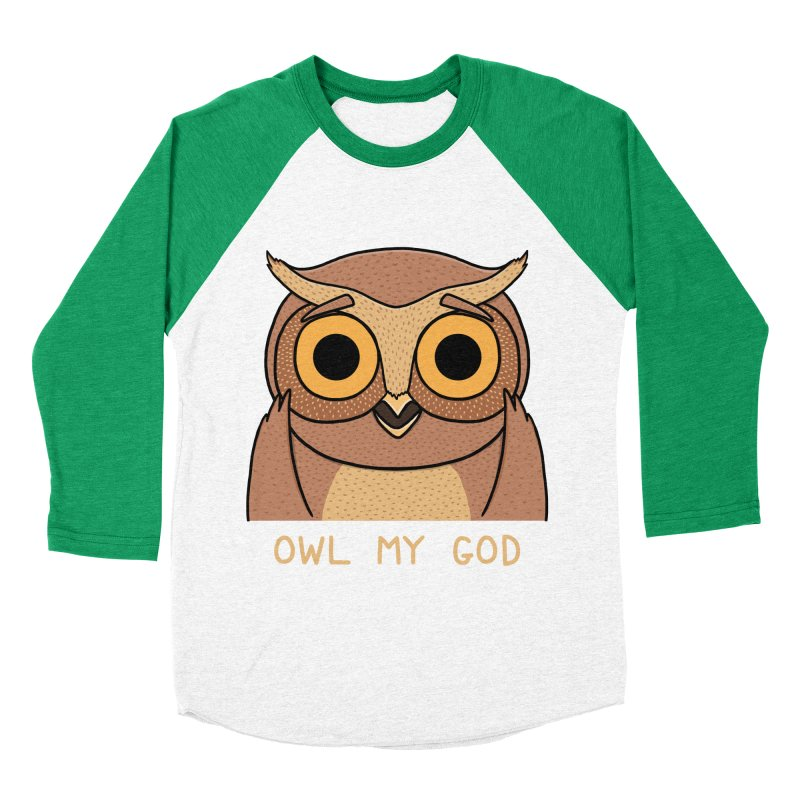 Owl My God Men's Baseball Triblend T-Shirt by bohsky's Artist Shop