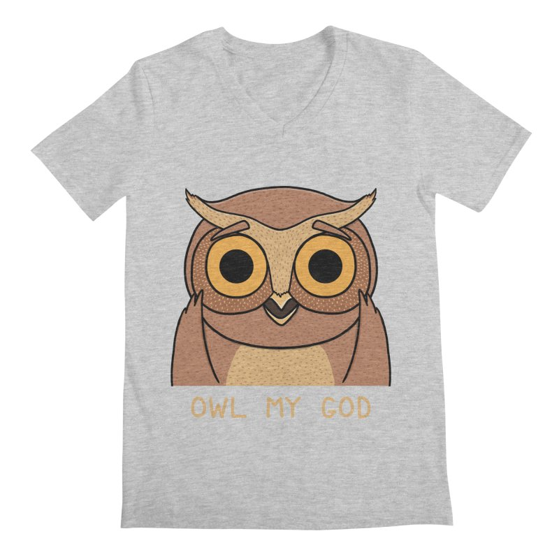 Owl My God Men's V-Neck by bohsky's Artist Shop