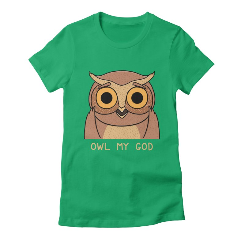 Owl My God Women's Fitted T-Shirt by bohsky's Artist Shop