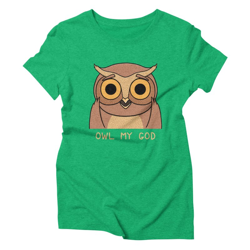 Owl My God Women's Triblend T-shirt by bohsky's Artist Shop