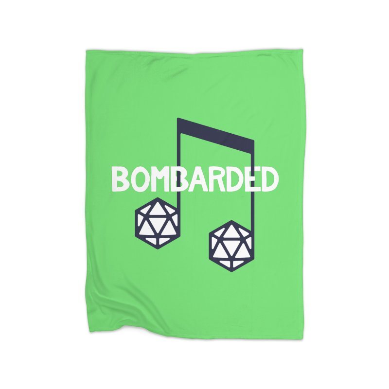 bomBARDed Logo w/Text Home Fleece Blanket Blanket by bomBARDed Merch!
