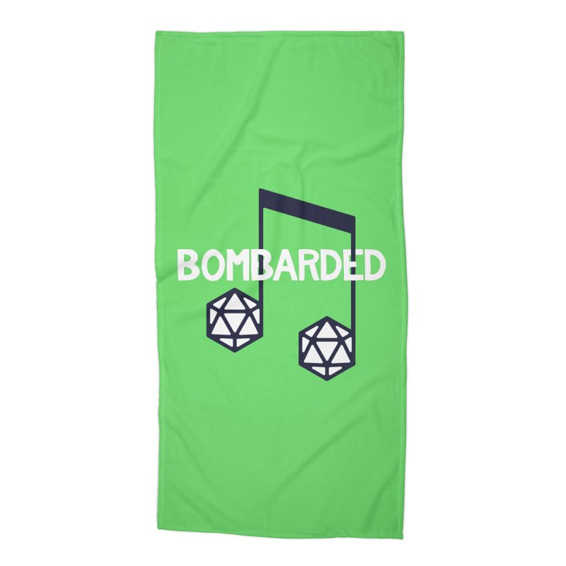 bomBARDed Logo w/Text Accessories Beach Towel by bomBARDed Merch!
