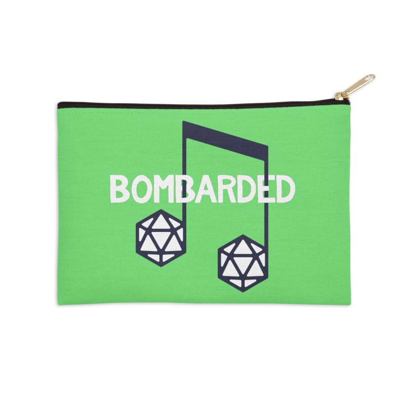 bomBARDed Logo w/Text Accessories Zip Pouch by bomBARDed Merch!