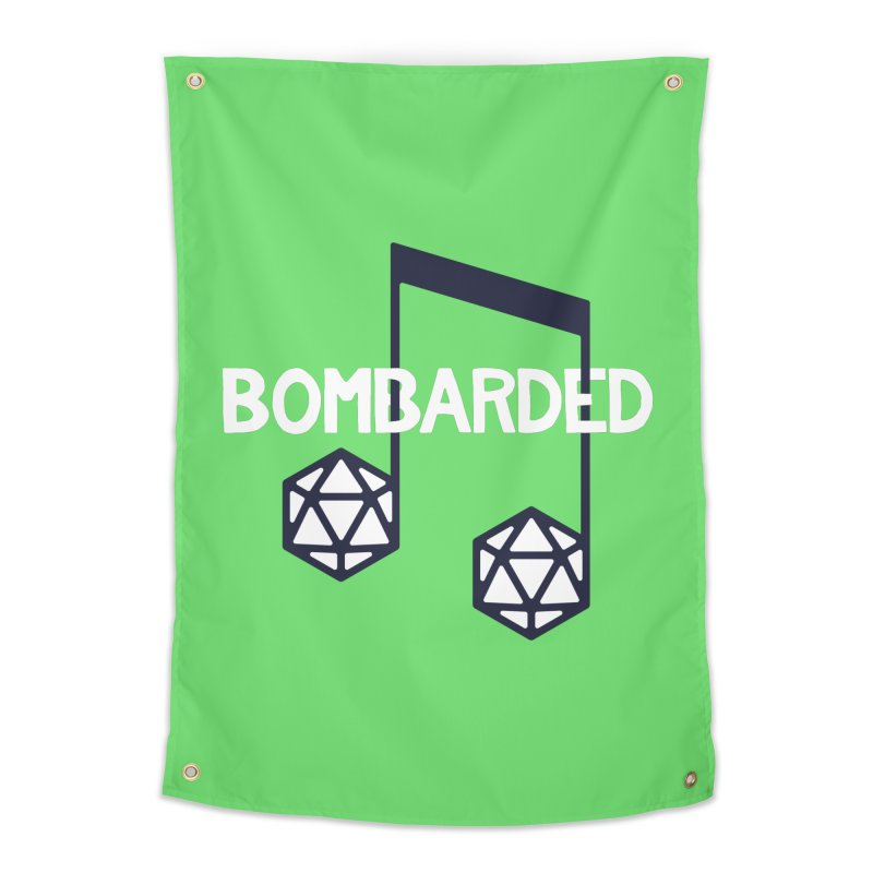 bomBARDed Logo w/Text Home Tapestry by bomBARDed Merch!