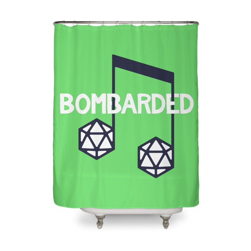 bomBARDed Logo w/Text Home Shower Curtain by bomBARDed Merch!