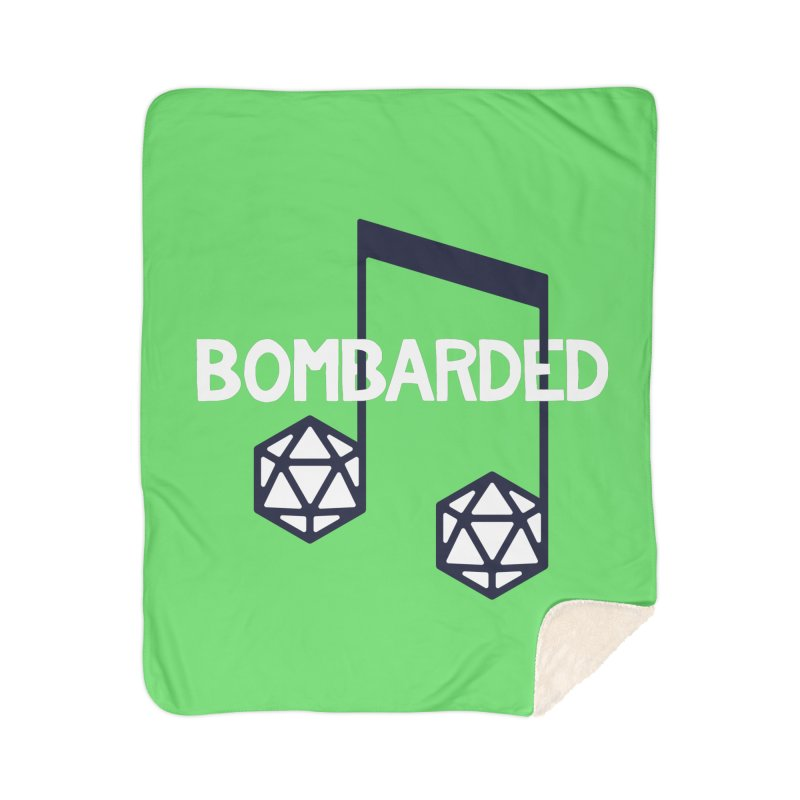 bomBARDed Logo w/Text Home Sherpa Blanket Blanket by bomBARDed Merch!