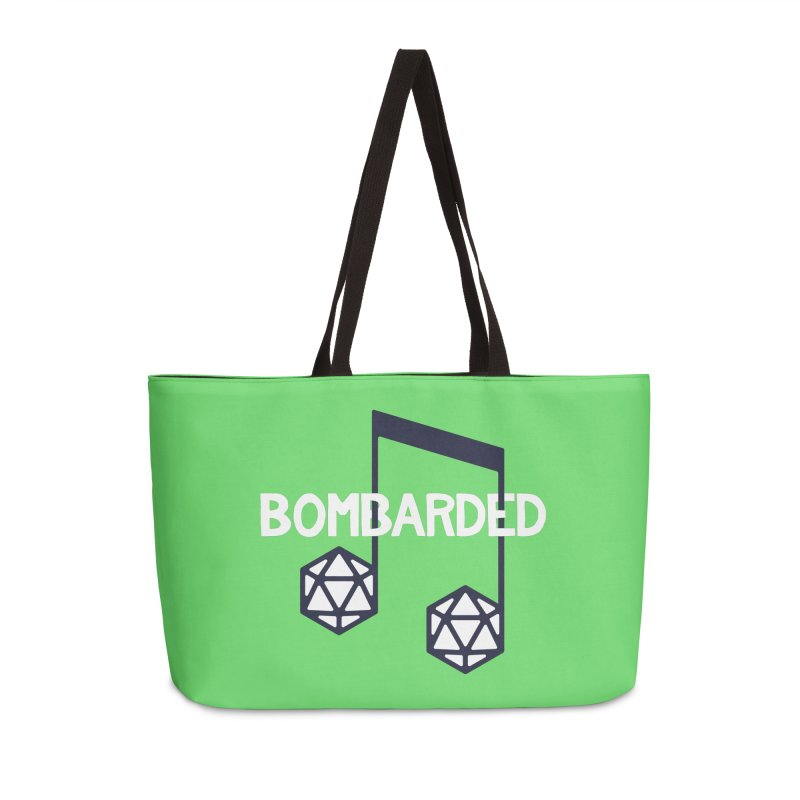bomBARDed Logo w/Text Accessories Weekender Bag Bag by bomBARDed Merch!