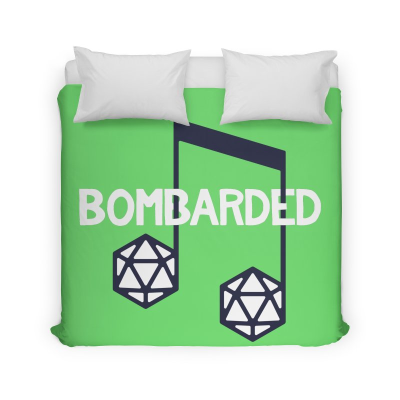 bomBARDed Logo w/Text Home Duvet by bomBARDed Merch!