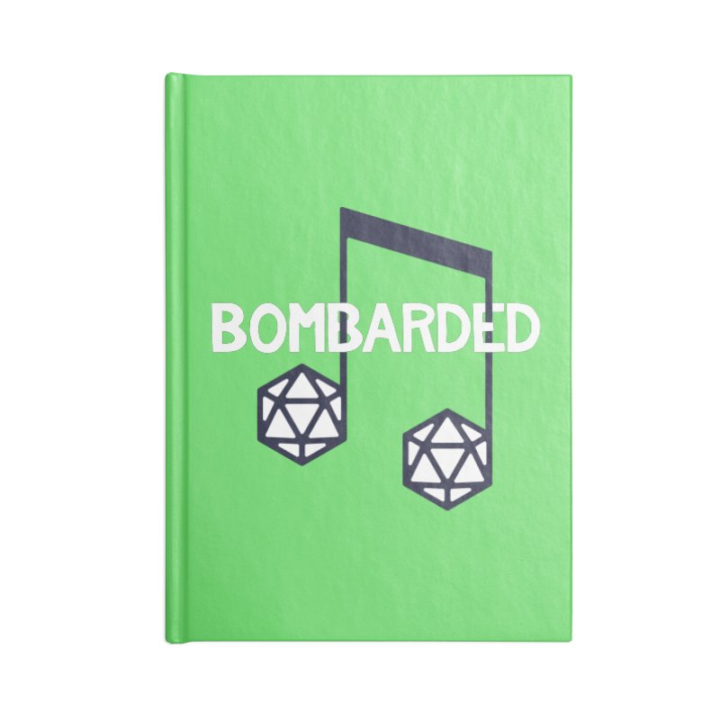 bomBARDed Logo w/Text Accessories Lined Journal Notebook by bomBARDed Merch!