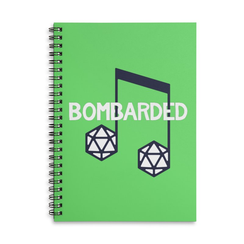bomBARDed Logo w/Text Accessories Lined Spiral Notebook by bomBARDed Merch!