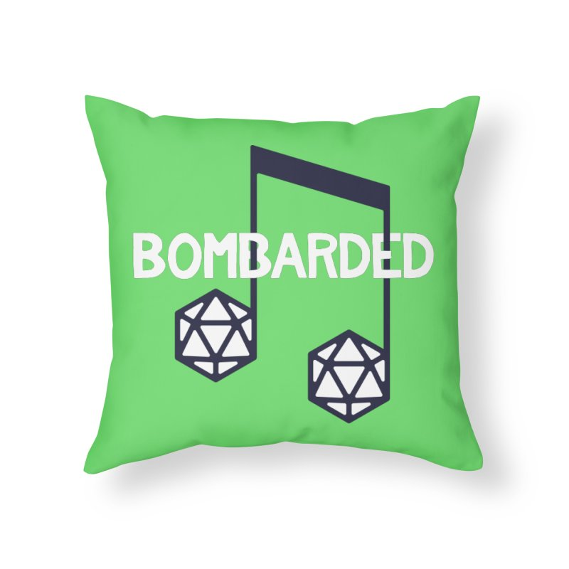bomBARDed Logo w/Text Home Throw Pillow by bomBARDed Merch!