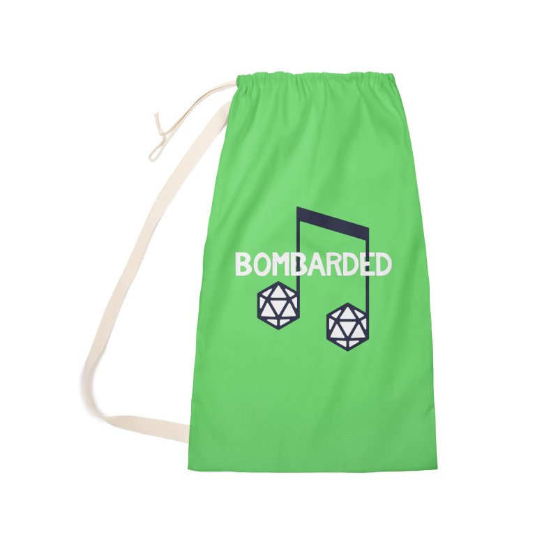 bomBARDed Logo w/Text Accessories Laundry Bag Bag by bomBARDed Merch!