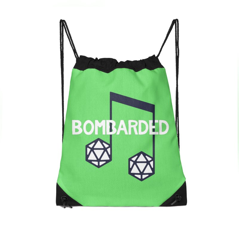 bomBARDed Logo w/Text Accessories Drawstring Bag Bag by bomBARDed Merch!