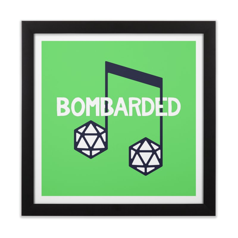 bomBARDed Logo w/Text Home Framed Fine Art Print by bomBARDed Merch!