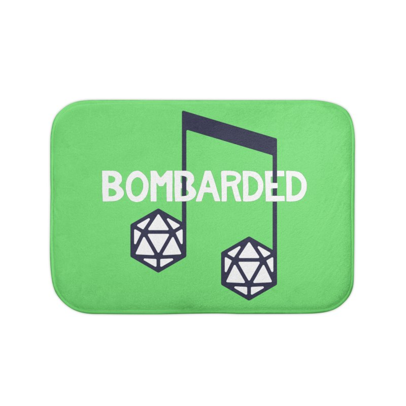 bomBARDed Logo w/Text Home Bath Mat by bomBARDed Merch!