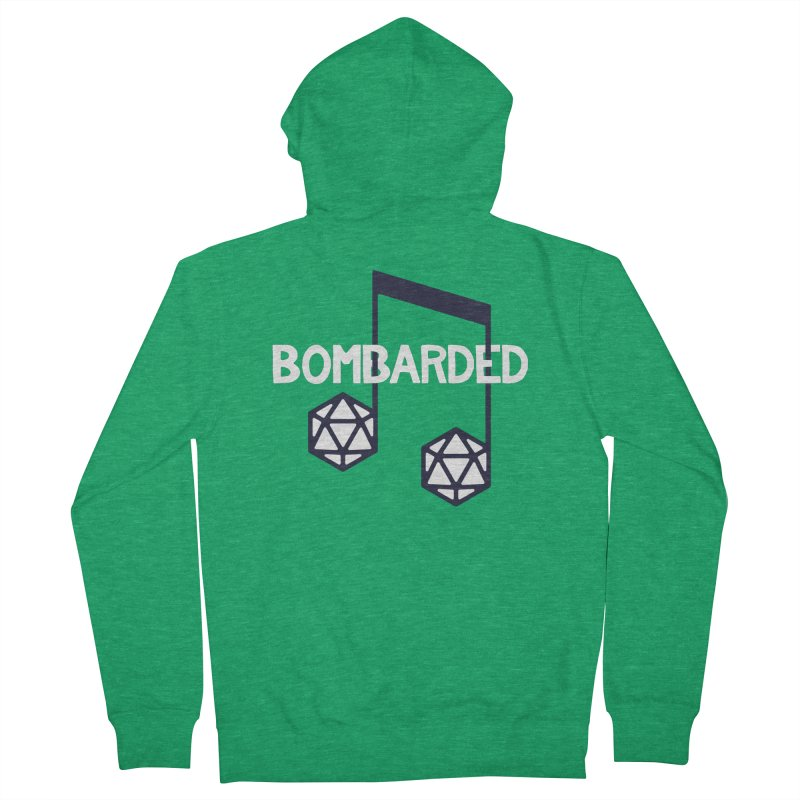 bomBARDed Logo w/Text Men's Zip-Up Hoody by bomBARDed Merch!