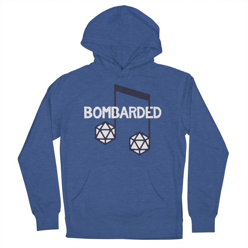 bomBARDed Logo w/Text Men's French Terry Pullover Hoody by bomBARDed Merch!