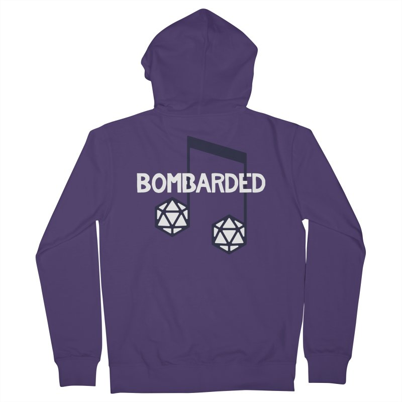 bomBARDed Logo w/Text Women's French Terry Zip-Up Hoody by bomBARDed Merch!