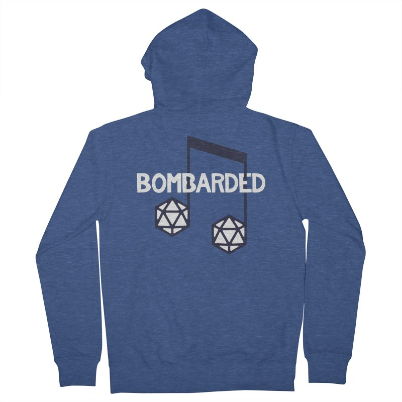 bomBARDed Logo w/Text Men's French Terry Zip-Up Hoody by bomBARDed Merch!
