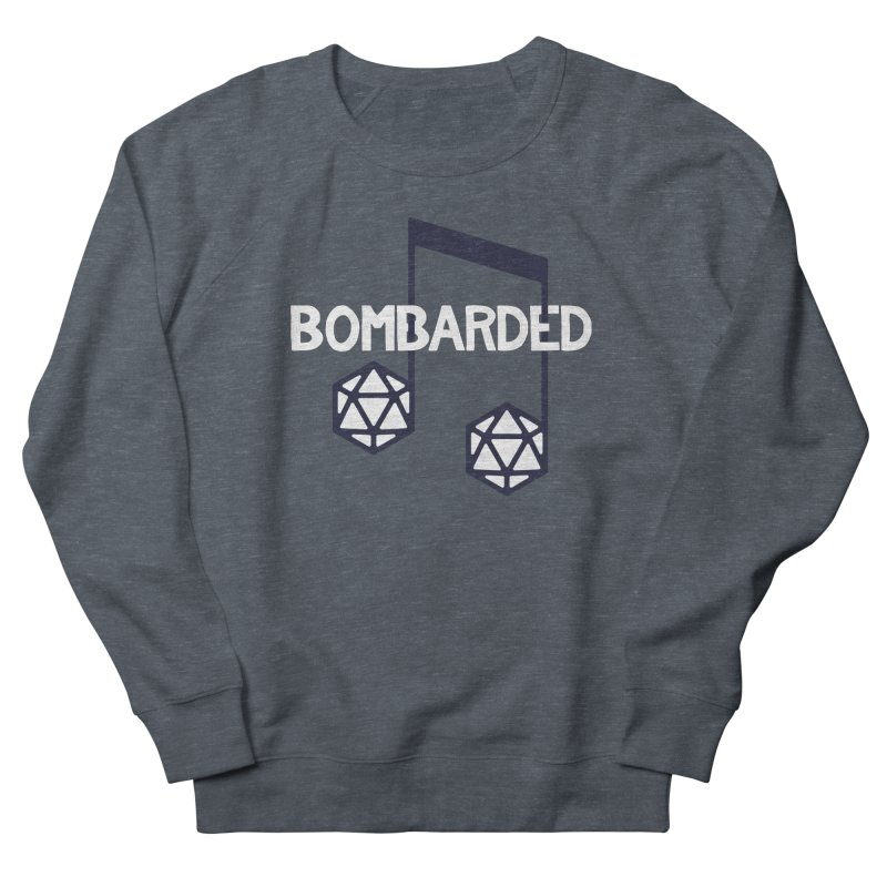 bomBARDed Logo w/Text Men's French Terry Sweatshirt by bomBARDed Merch!