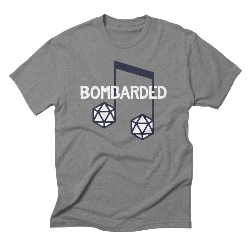 bomBARDed Logo w/Text Men's Triblend T-Shirt by bomBARDed Merch!