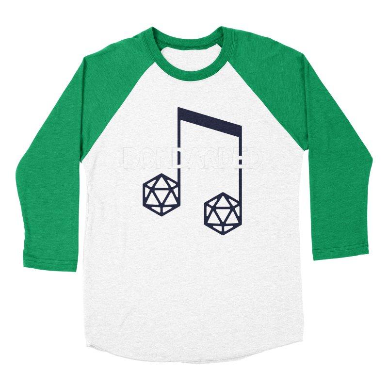 bomBARDed Logo w/Text Men's Baseball Triblend Longsleeve T-Shirt by bomBARDed Merch!